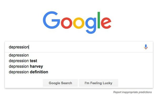 Google depression screening