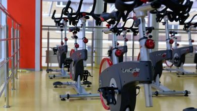 exercise bike at gym