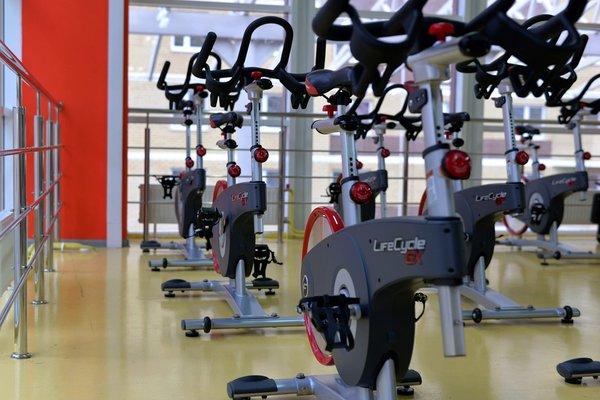 exercise bike at gym